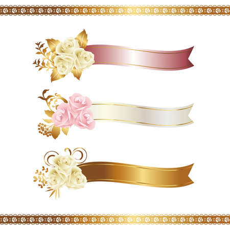 ribbon: Rose mit Band Illustration