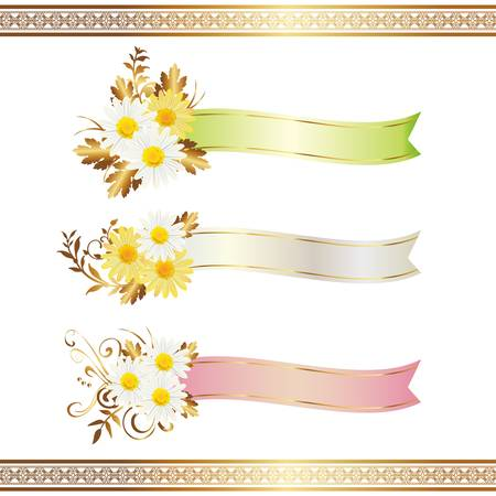 daisy with ribbon Vector