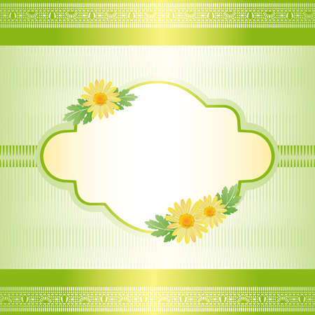daisy card green Vector
