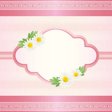 daisy card pink Vector