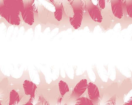ピンクの羽背景
