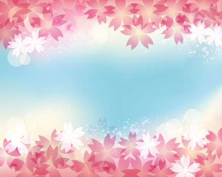 cherry blossom background  Vector