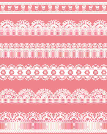 lace background: straight lace Illustration
