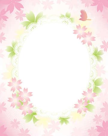 japanese apricot flower: spring frame Illustration