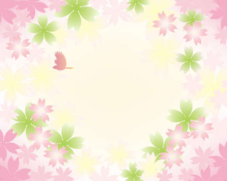 sweet spring background Vector