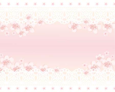 feminine background: spring flower Illustration
