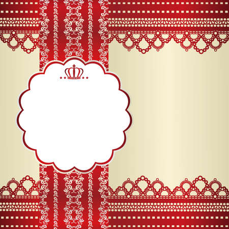 red lace card Vector