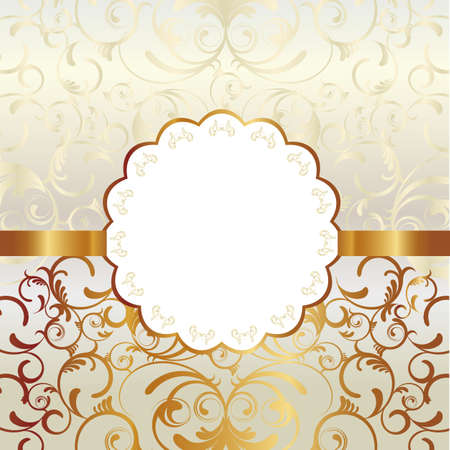 wedding card design: abstract frame