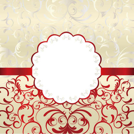 abstract frame red Vector