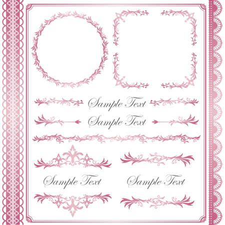 pink frame set Stock Vector - 11882694