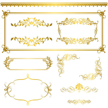 gold frame: gold frame Illustration