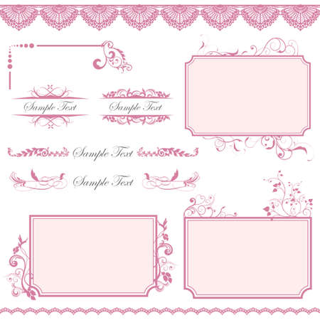 pink frame set Stock Vector - 11882689