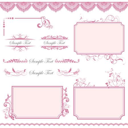 pink frame set Stock Vector - 11882689