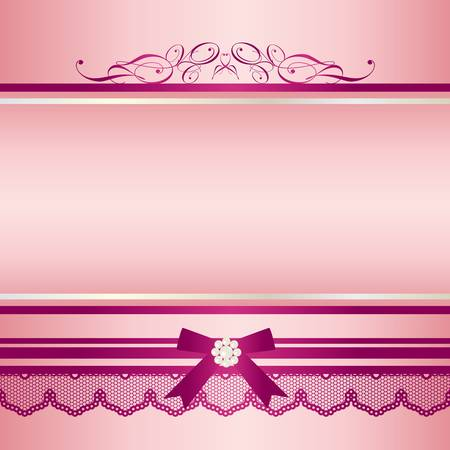 ribbon frame pink Vector