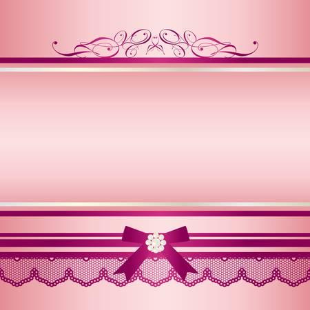 ribbon frame pink Illustration