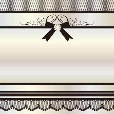 黒いリボンの背景
