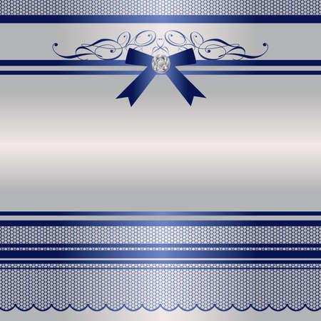 silver ribbon: ribbon frame Illustration