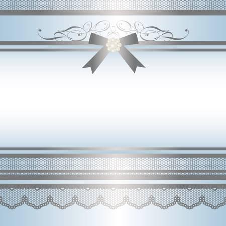 ribbon frame blue Stock Vector - 11882733