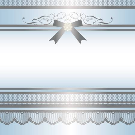 ribbon frame blue