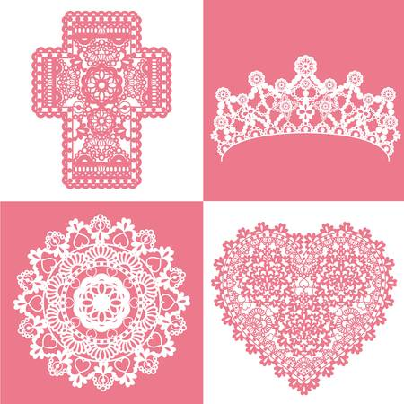 heart with crown: lace set