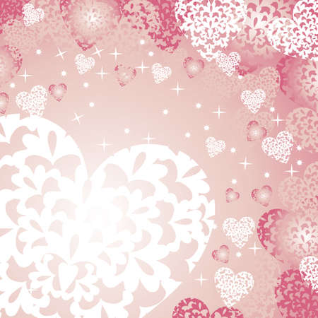 heart background pink Vector