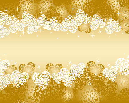 heart background gold Vector