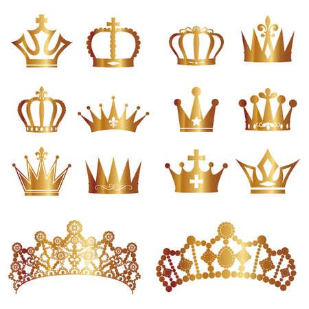 corona de rey: corona conjunto Vectores