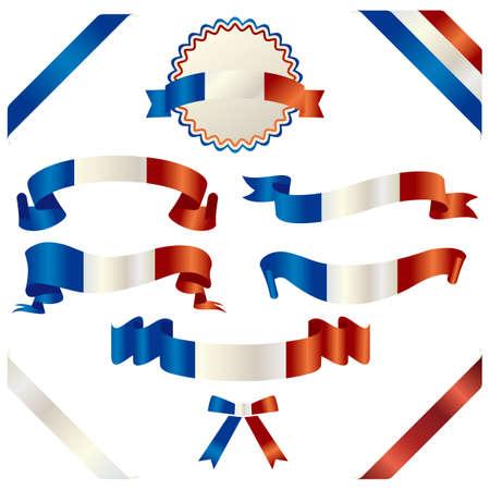 celebratory: set of french ribbon Illustration