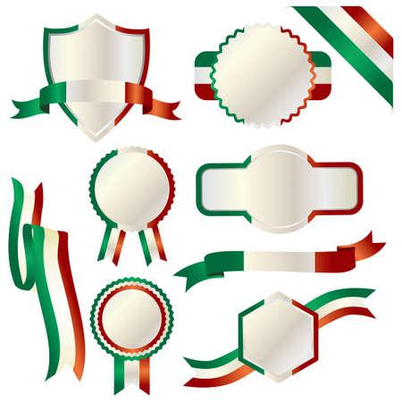 set of italy 向量圖像