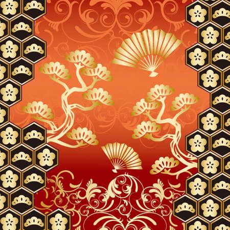 japanese art: japanese background