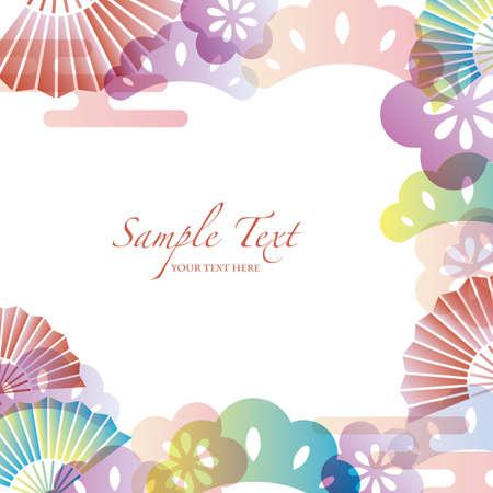 japanese apricot: japanese motif background Illustration