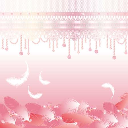 宝石類および羽の背景