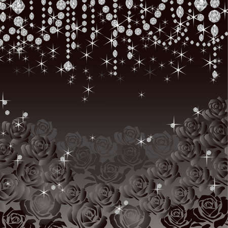 jewelry rose background Vector