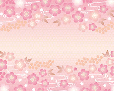 japanese apricot: spring background