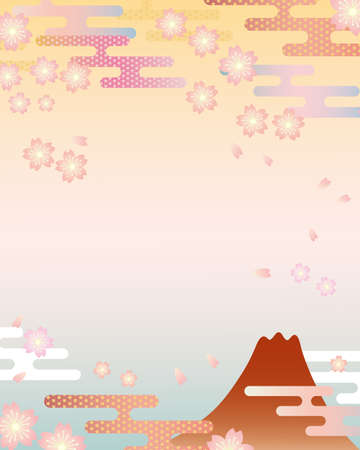 japanese flower background Vector