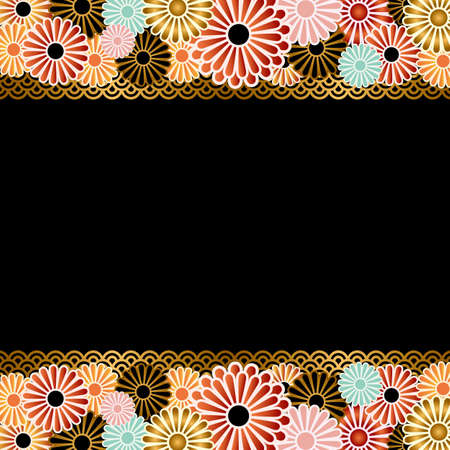 japanese apricot: chrysanthemum background