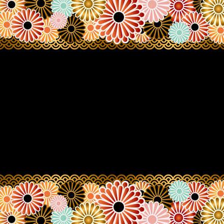 japanese apricot: chrysanthemum background
