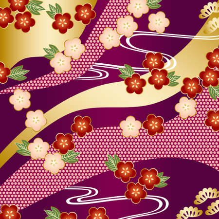 japanese apricot flower: japanese background