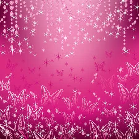 papillon rose: des bijoux et des papillons de fond