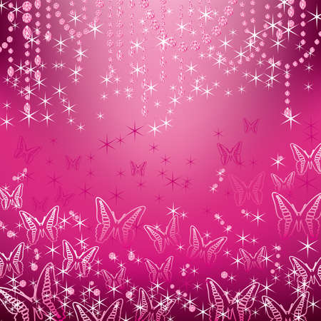 jewelry and butterfly background Vector