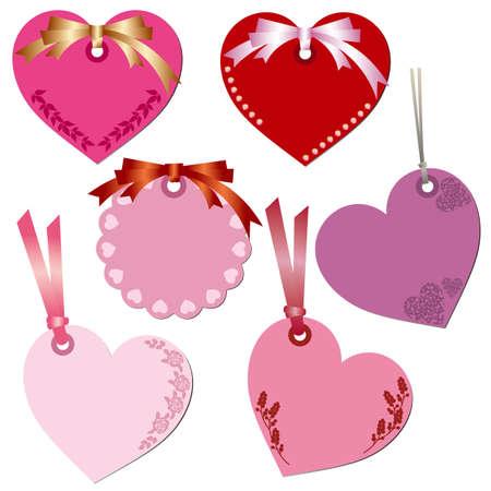 note de service: jeu d'�tiquettes coeur