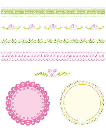 rose line and frame Vector