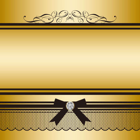 congratulation: ribbon frame Illustration