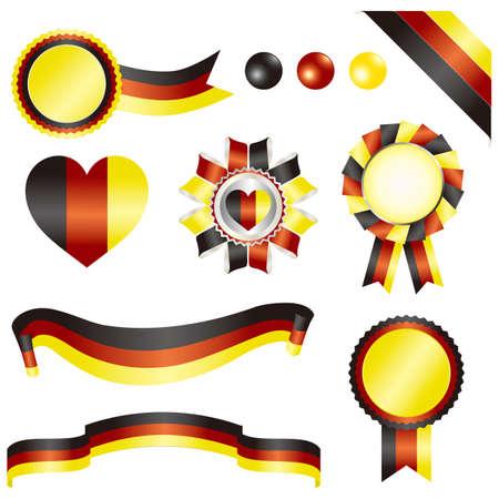 german mark: set of germany Illustration