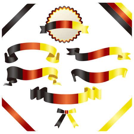 set of german ribbon Vector