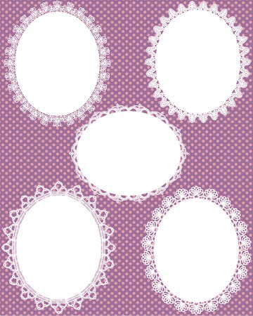 oval lace dot background