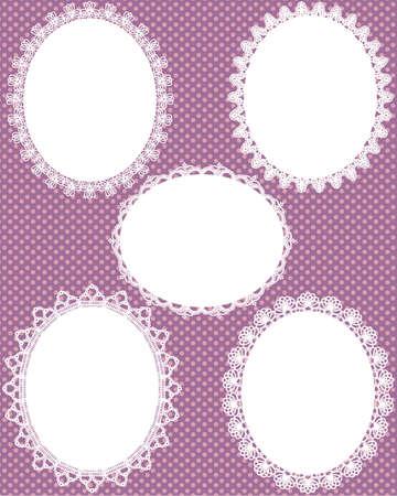 oval lace dot background