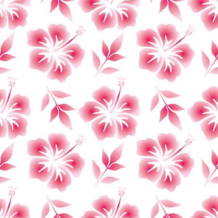 flower power: hibiscus seamless background Illustration