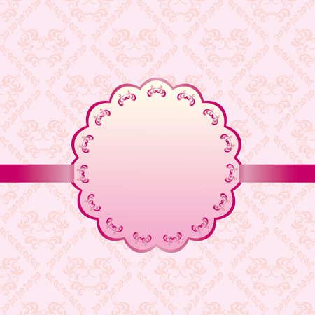 抽象的な背景カード ピンク