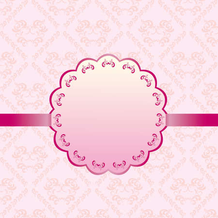 lace pattern: abstract background card pink Illustration